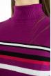 Гольф трехцветный  618F152 фиолетовый