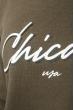 Толстовка мужская с капюшоном, с надписью 70PD5002 хаки