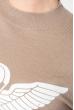 Свитшот женский с оригинальным рисунком 222V001 песочный