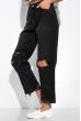 Рваные прямые джинсы 162P010 черный