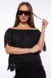 Блуза со спущенными плечами 207P8626 черный