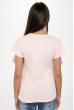 Футболка женская с надписью на груди  211F042 розовый