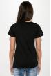 Футболка женская с надписью на груди  211F042 черный