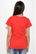 Футболка женская с надписью на груди  211F042 красный