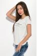 Футболка женская с надписью на груди  211F042 светло-серый