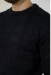 Джемпер фактурный 85F327 чернильный