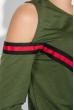 Костюм женский спорт с открытым плечом 76PD1116 хаки
