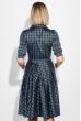Платье женское на запах на груди 68PD546 черно-голубой