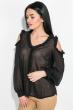 Блузка женская с рюшами  72PD150-1 черный