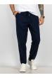 Брюки из натурального хлопка 637F001 темно-синий
