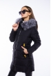 Женская приталеная куртка 120PSKL4916 черный