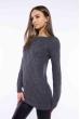 Свитер женский удлиненный  610F005 темно-серый