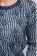 Свитер теплый, женский, повседневный 373F005 сине-белый
