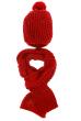 Комплект (двойка) с помпоном женский 65P1408 красный