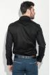 Рубашка мужская однотонная, с декором на груди 50PD0011-1 черный