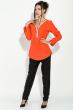Блузка женская, на змейке  81P0042 оранж