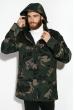 Куртка 120PCHB9801 зелено-черный