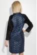 Платье женское зимнее, с боковой молнией 74PD380 темно-синий