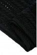 Комплект женский шапка, шарф и митенки тонкий 65PF3021 черный