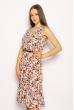 Платье с цветочным принтом 220PELK701 розовый