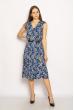 Платье с цветочным принтом 220PELK701 синий
