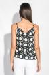 Майка-топ женская с кружевом на груди 212F055 чернильно-белый