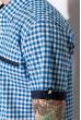 Рубашка 120P289 бело-голубой