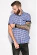 Рубашка 120P289 бело-синий