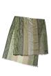 Палантин женский комбинация принтов пейсли/крупная полоска 73PD015 зеленый , огурцы