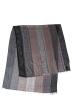 Палантин женский комбинация принтов пейсли/крупная полоска 73PD015 серый , огурцы