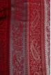 Палантин женский комбинация принтов пейсли/крупная полоска 73PD015 марсала , огурцы
