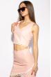 Костюм женский с помпонами 215P027 розовый