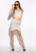 Костюм женский с помпонами 215P027 светло-серый