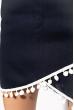 Костюм женский с помпонами 215P027 темно-синий
