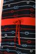 Ночная рубашка женская 107P02724 темно-синий / красный