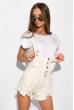 Модный женский джинсовый комбинезон 120PAML8170 бежевый меланж