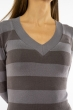 Пуловер женский с V-образным вырезом 618F071 серо-грифельный