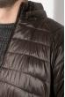 Куртка мужская на змейке 191V002 коричневый