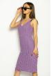 Платье вязаное с узором 629F004 сиреневый