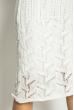 Платье вязаное с узором 629F004 белый