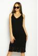 Платье вязаное с узором 629F004 черный