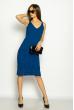 Платье вязаное с узором 629F004 синий
