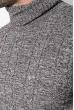 Гольф мужской вязаный 347V001 серо-коричневый