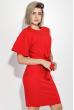 Платье женское на одно плечо, приталенное 72P104 красный