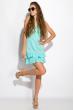 Платье с рюшами на юбке 103P006 бирюзовый