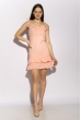 Платье с рюшами на юбке 103P006 бледно-розовый