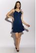 Платье с рюшами на юбке 103P006 темно-синий
