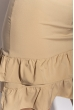 Платье с рюшами на юбке 103P006 кофейный