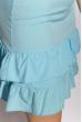 Платье с рюшами на юбке 103P006 голубой