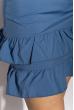 Платье с рюшами на юбке 103P006 сизый